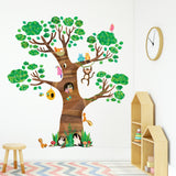 Giant Tree and Animals Wall Stickers