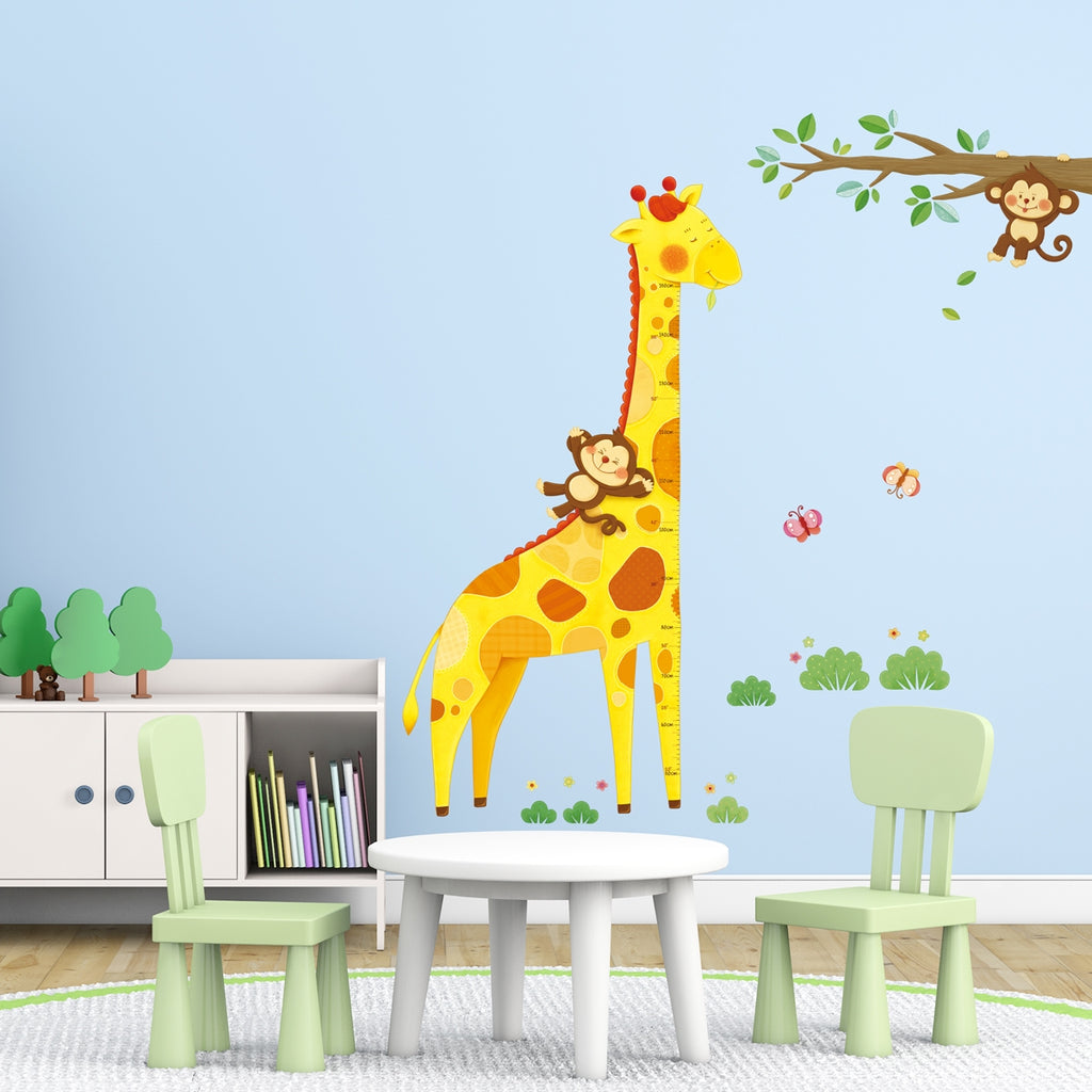 Giraffe Height Chart Wall Stickers