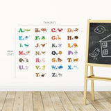 Alphabet & Animals Wall Stickers (Small) - DECOWALL