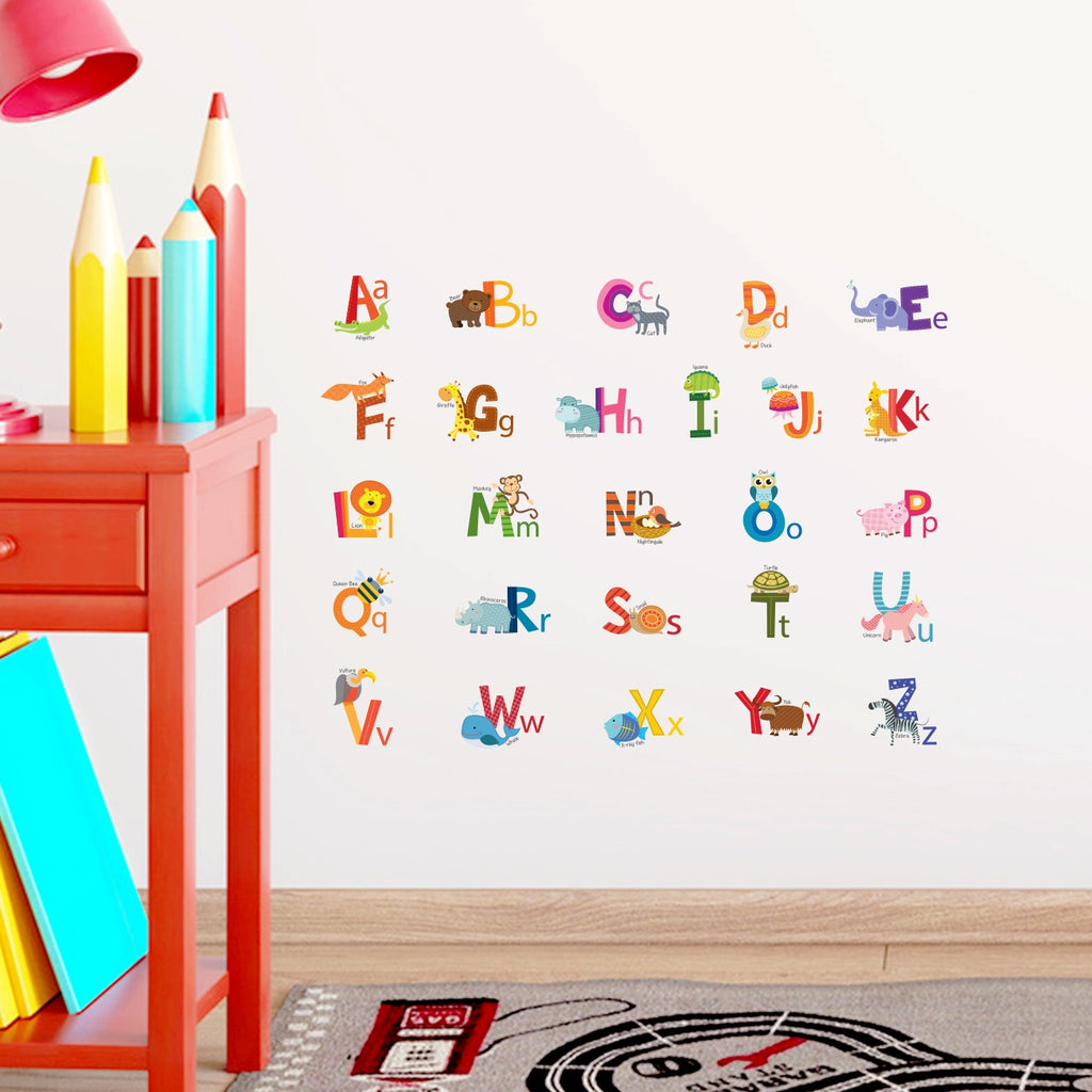 Animal Alphabet Wall Stickers (Small)