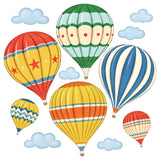 Vintage Hot Air Balloons Wall Stickers (Small)