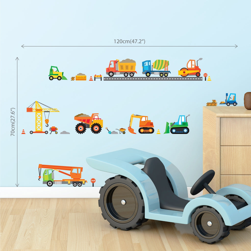 Construction Site Wall Stickers (Small)