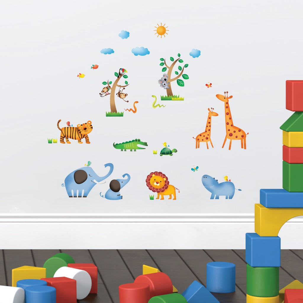Wild Jungle Animals Wall Stickers (Small)