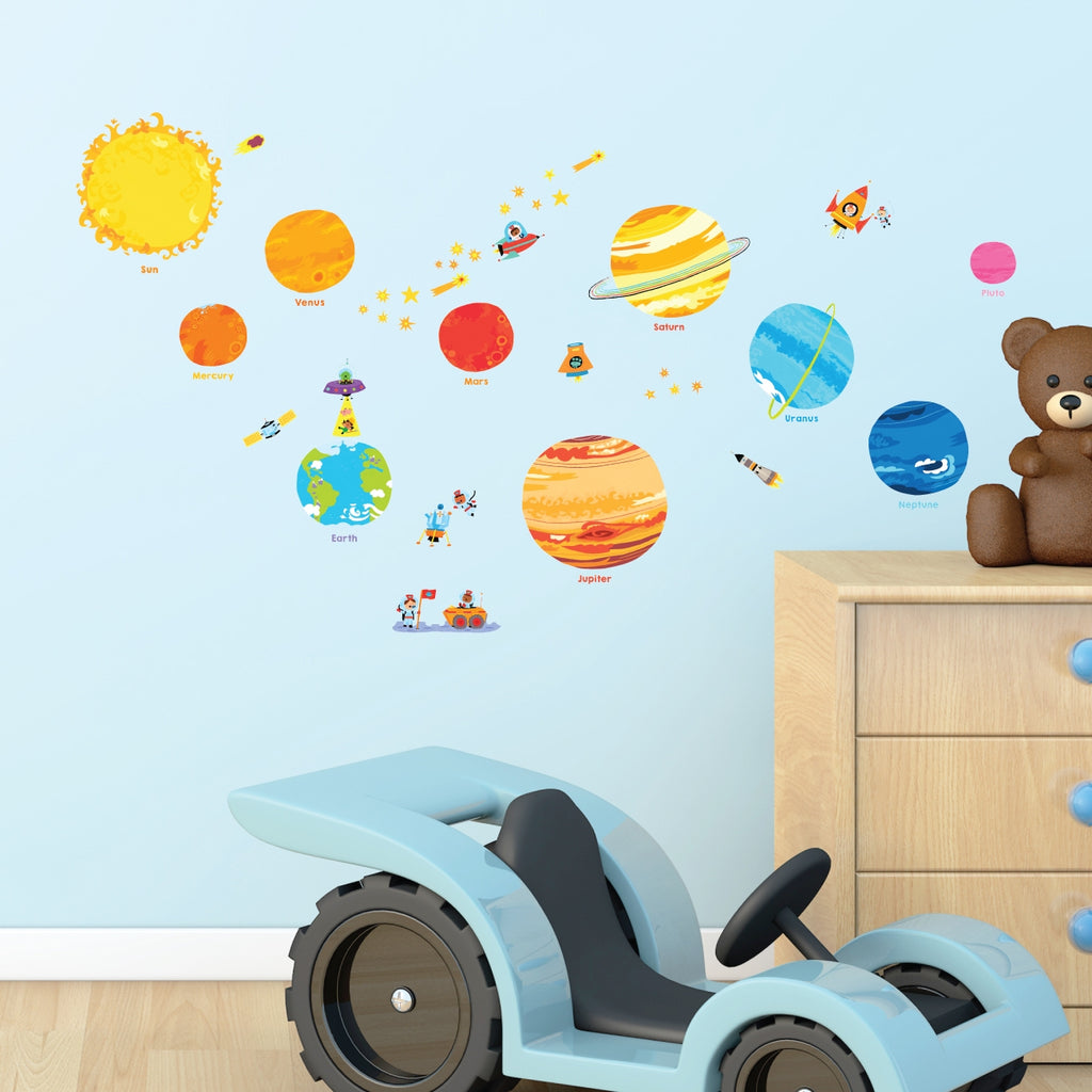 Planets and Space Wall Stickers (Small)