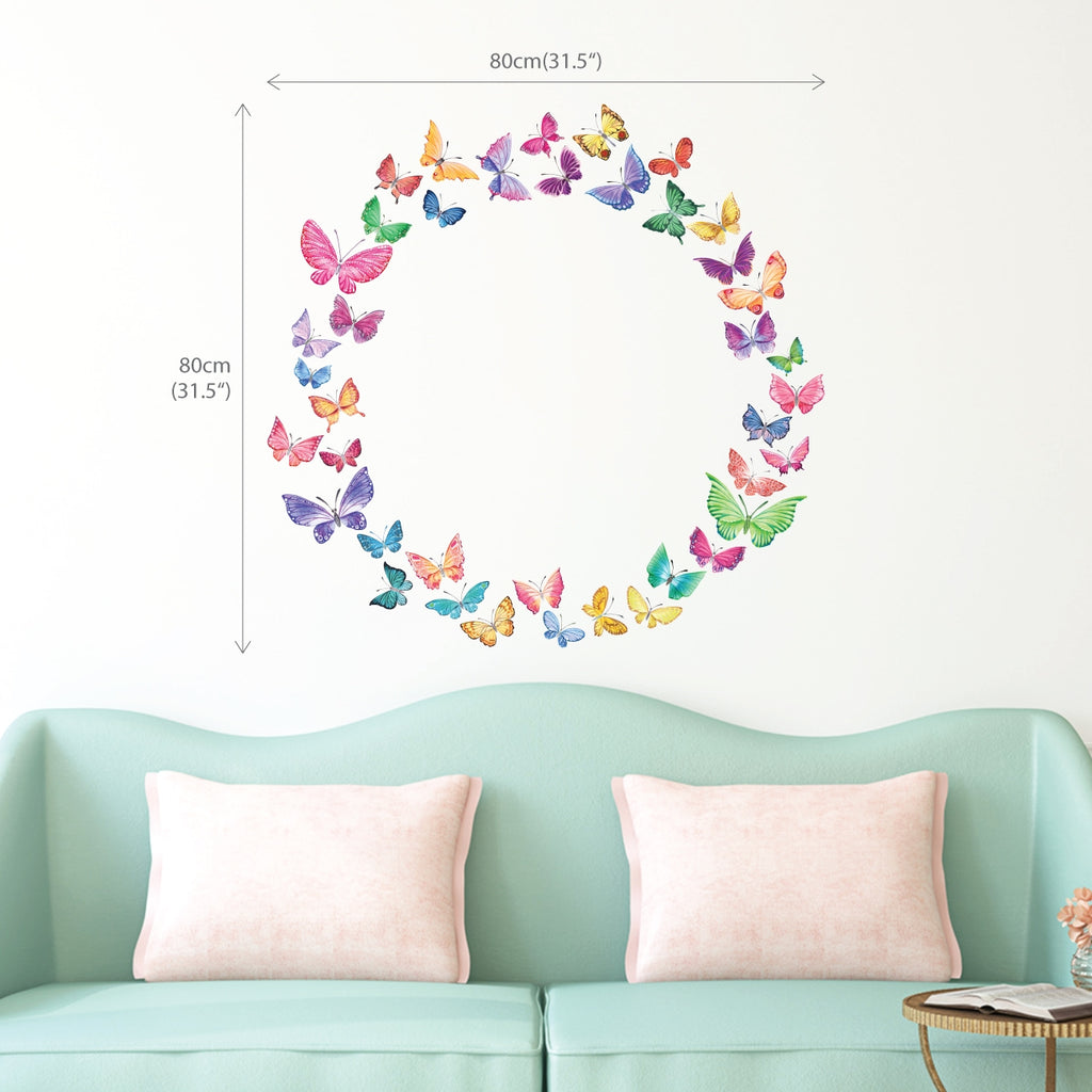 Watercolour Butterflies Wall Stickers (Small)