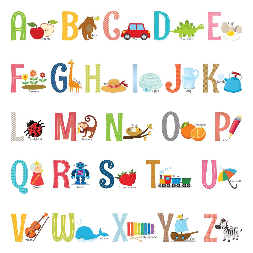 Alphabet Wall Stickers (Small)