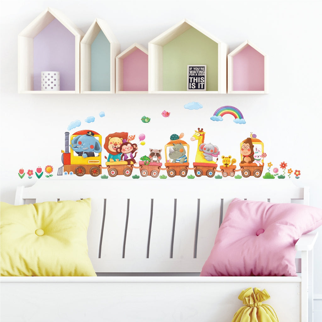 Animal Trains Wall Stickers (Small)