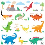 Colourful Dinosaur Wall Stickers B (Small)