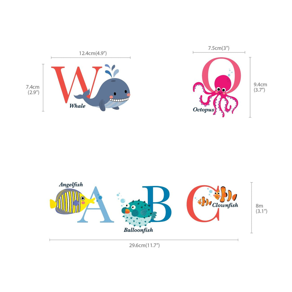 A-Z Ocean Alphabet Wall Stickers
