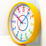 Time Teacher Learn to Tell The Time Children's Wall Clock (25cm, Yellow)