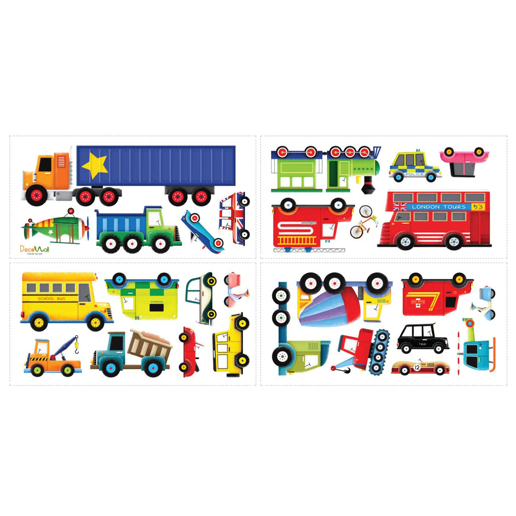 27 Transports Nursery Wall Stickers For Boys - DECOWALL
