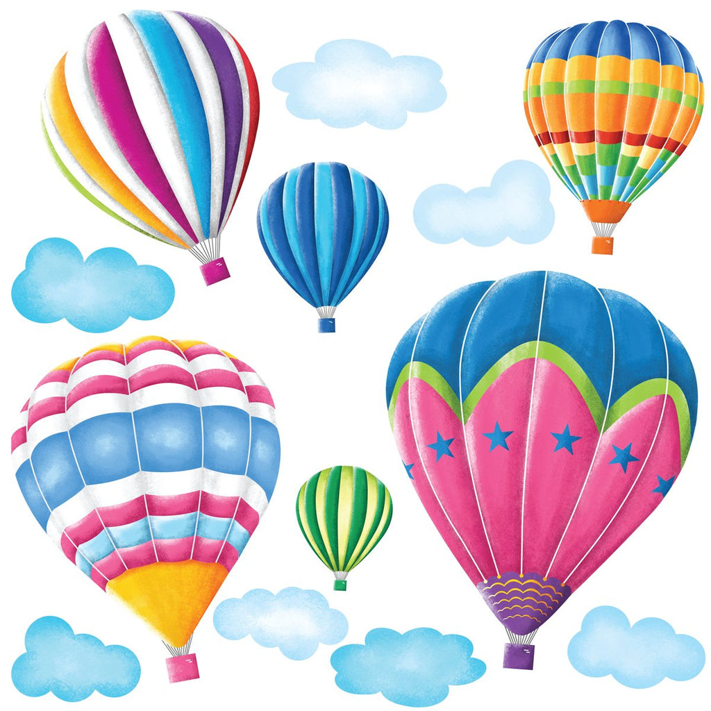 6 Hot Air Balloons in the Sky Wall Stickers - DECOWALL