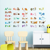 Alphabet & Animals Nursery Wall Stickers (Medium)