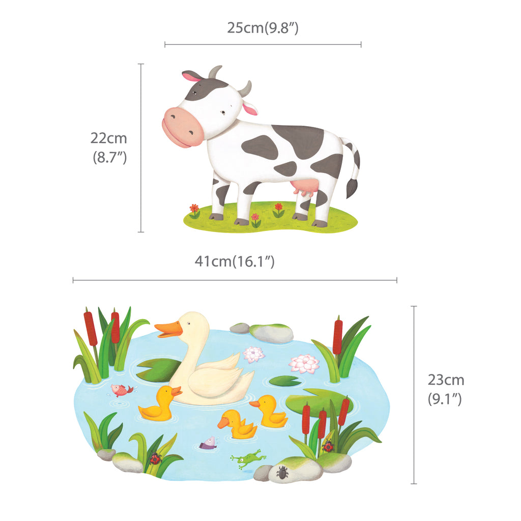 Field of Animals Wall Stickers