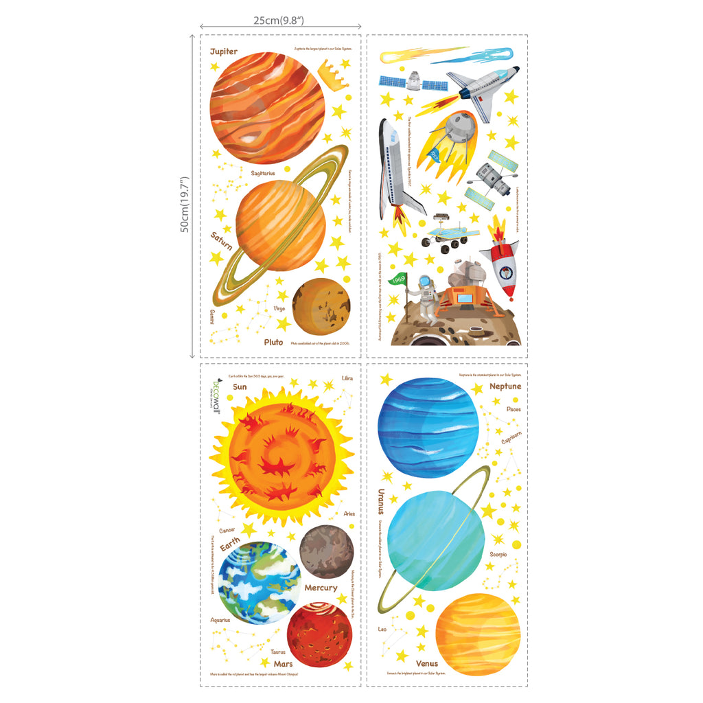 The Solar System Wall Stickers (Medium)