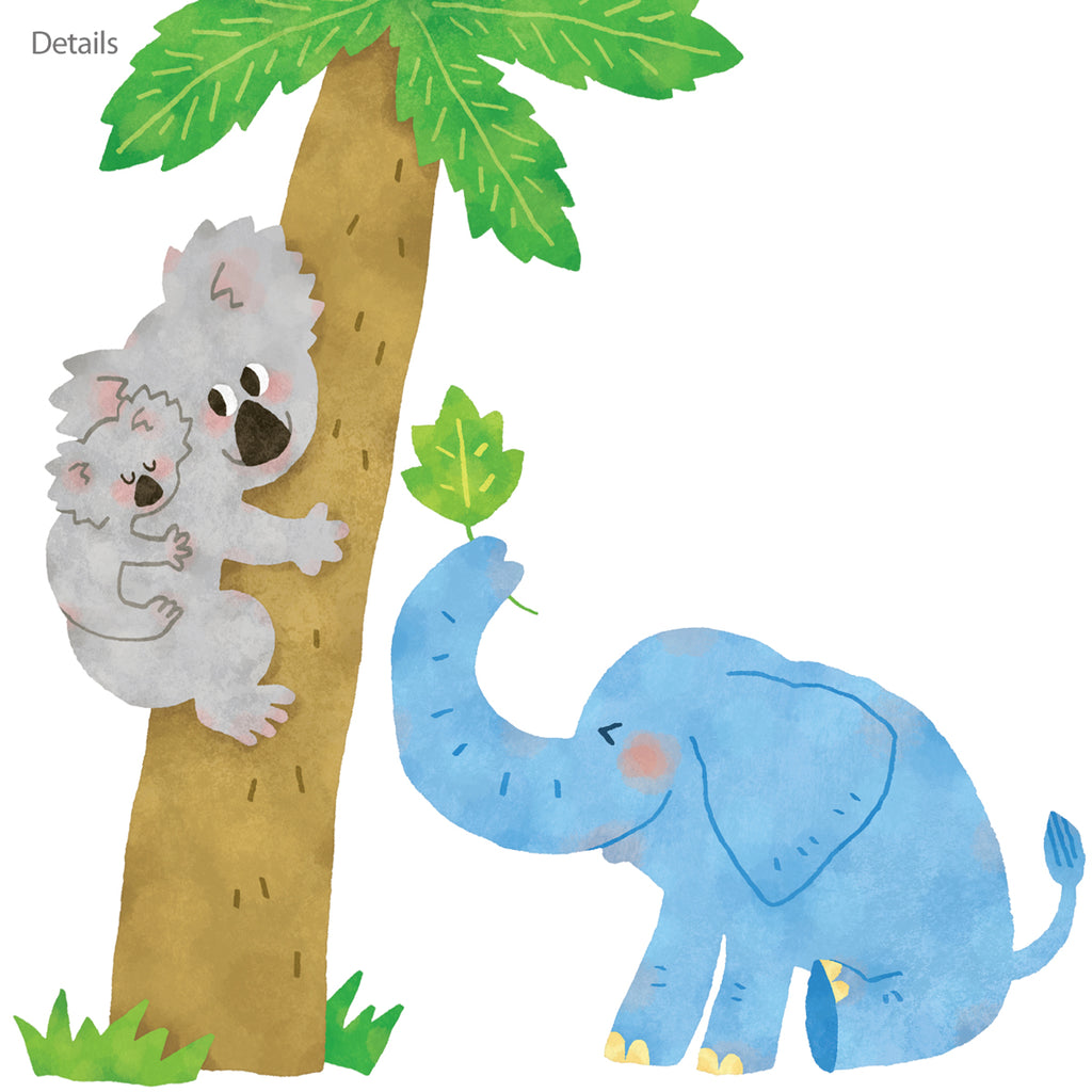 Jungle Animals Wall Stickers (Small)