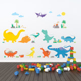 Colourful Dinosaur Wall Stickers A