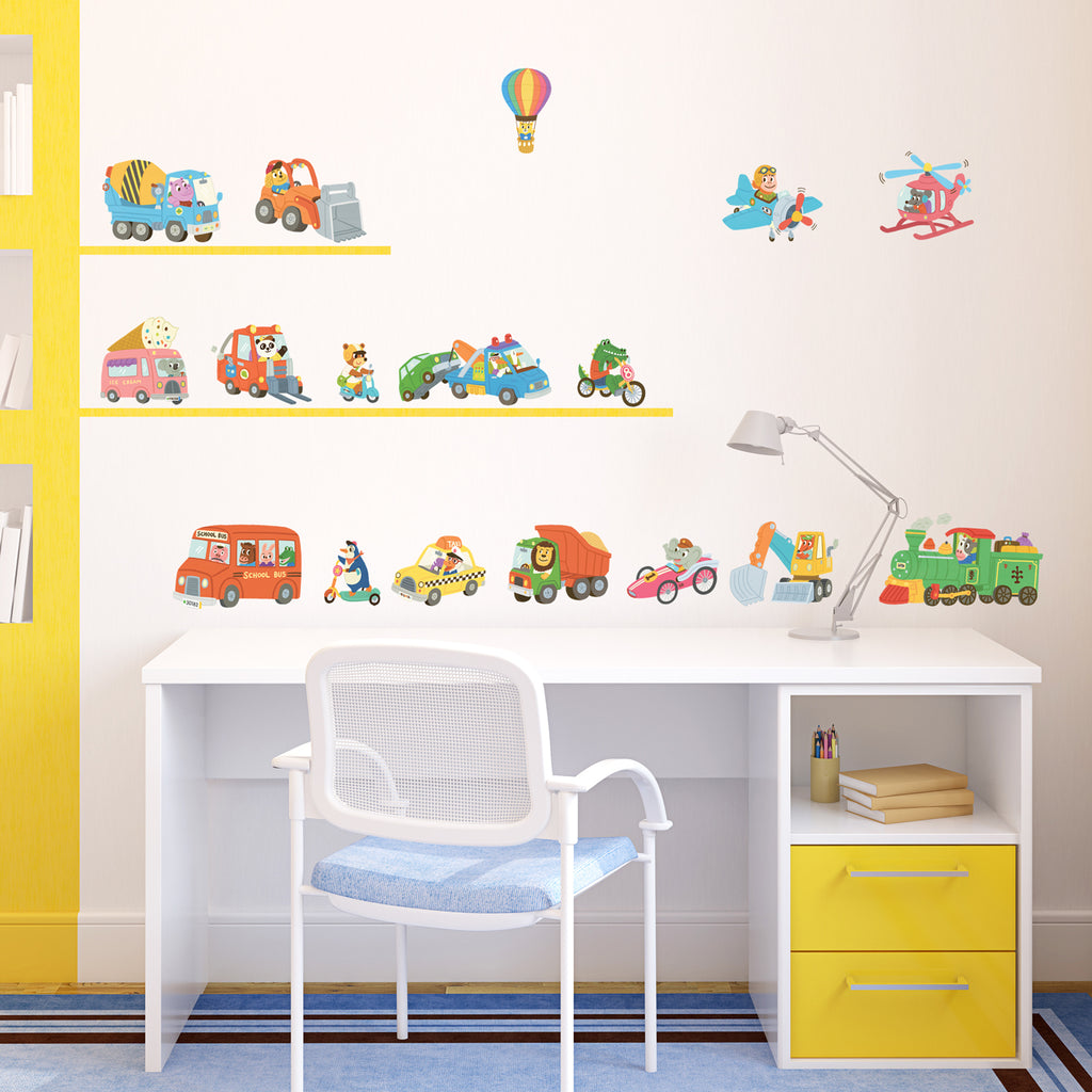 Animal Transports Wall Stickers