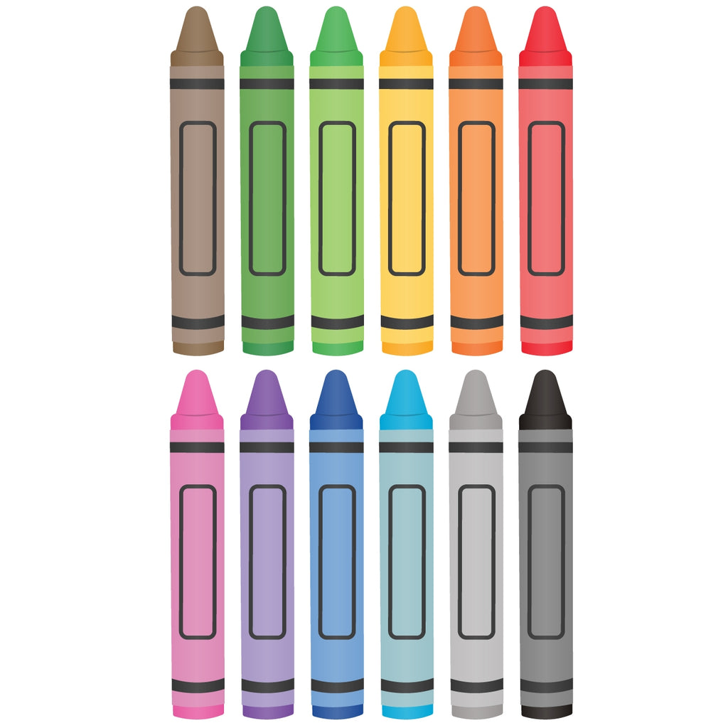 Colourful Crayons Fabric Wall Stickers