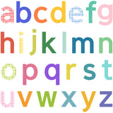 Pattern Alphabet Wall Stickers