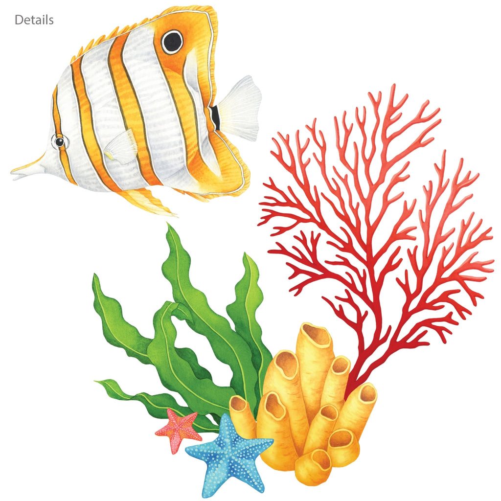 Watercolour Tropical Fish Wall Stickers