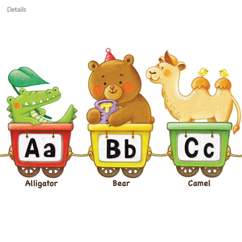 Animal Alphabet Train Wall Stickers