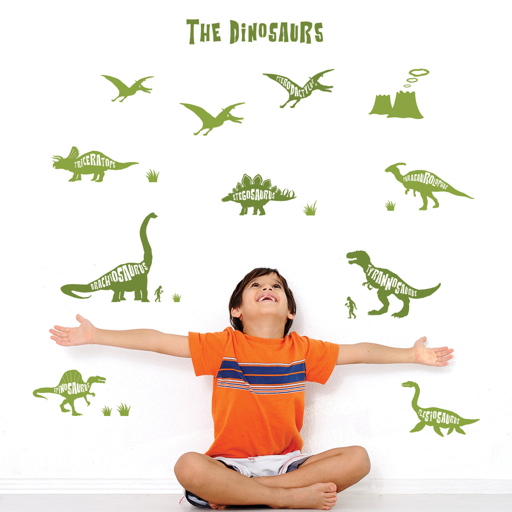 Dinosaurs Graphic Wall Stickers - Green