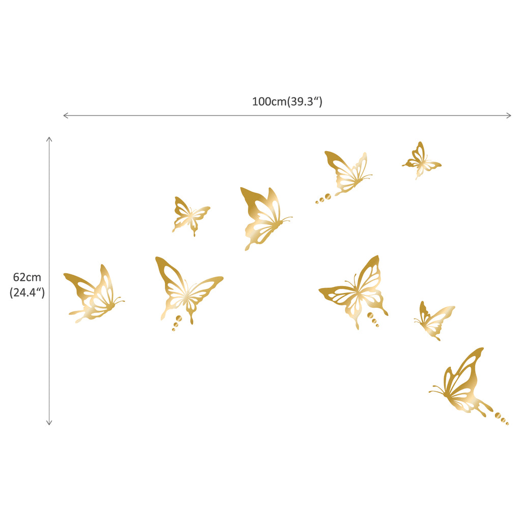 Modern Butterfly Graphic Stickers - Gold