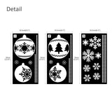 4 Christmas Balls and Snowflakes Graphic Stickers_White - DECOWALL