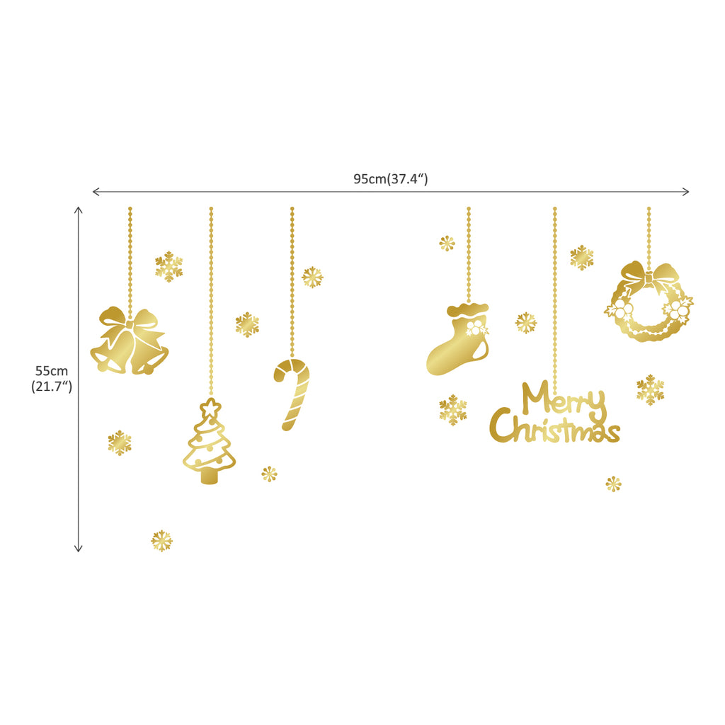 Merry Christmas Decorations Graphic Stickers_Gold