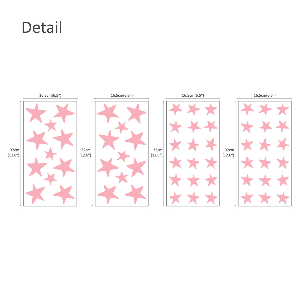 Little Stars Graphic Stickers - Pink