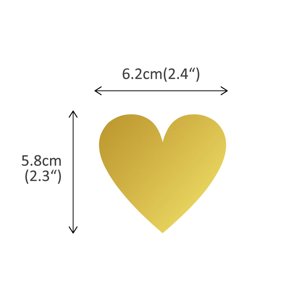 Lovely Hearts Graphic Stickers - Gold