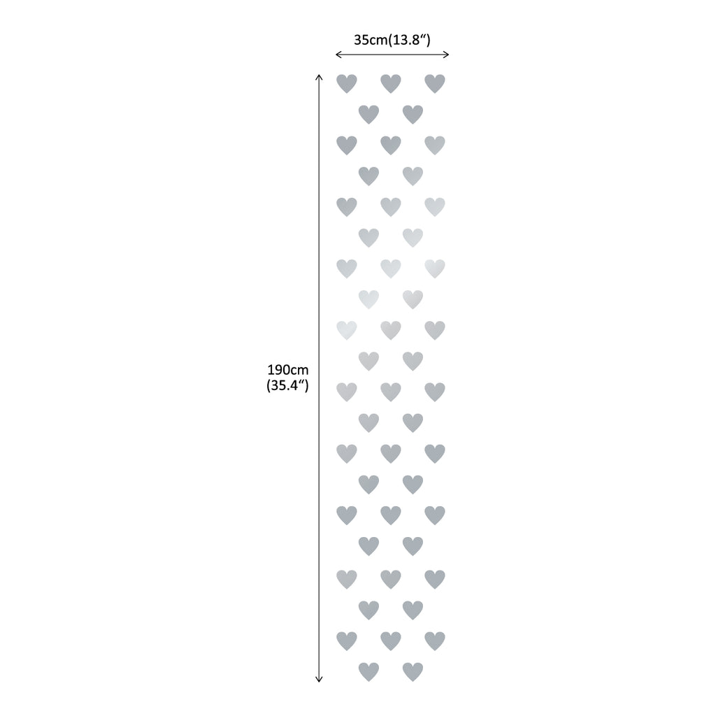 Lovely Hearts Graphic Stickers - Silver