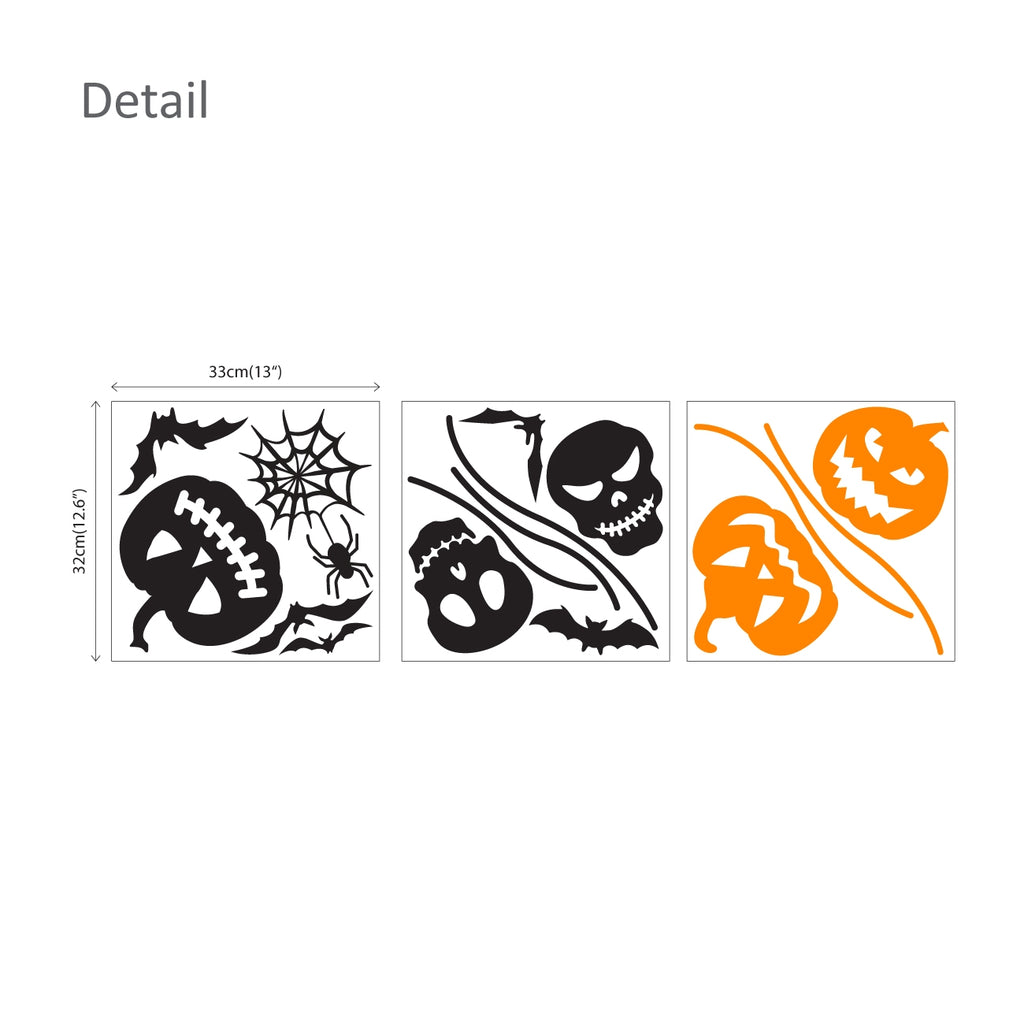 Halloween Pumpkin and Skull Graphic Stickers
