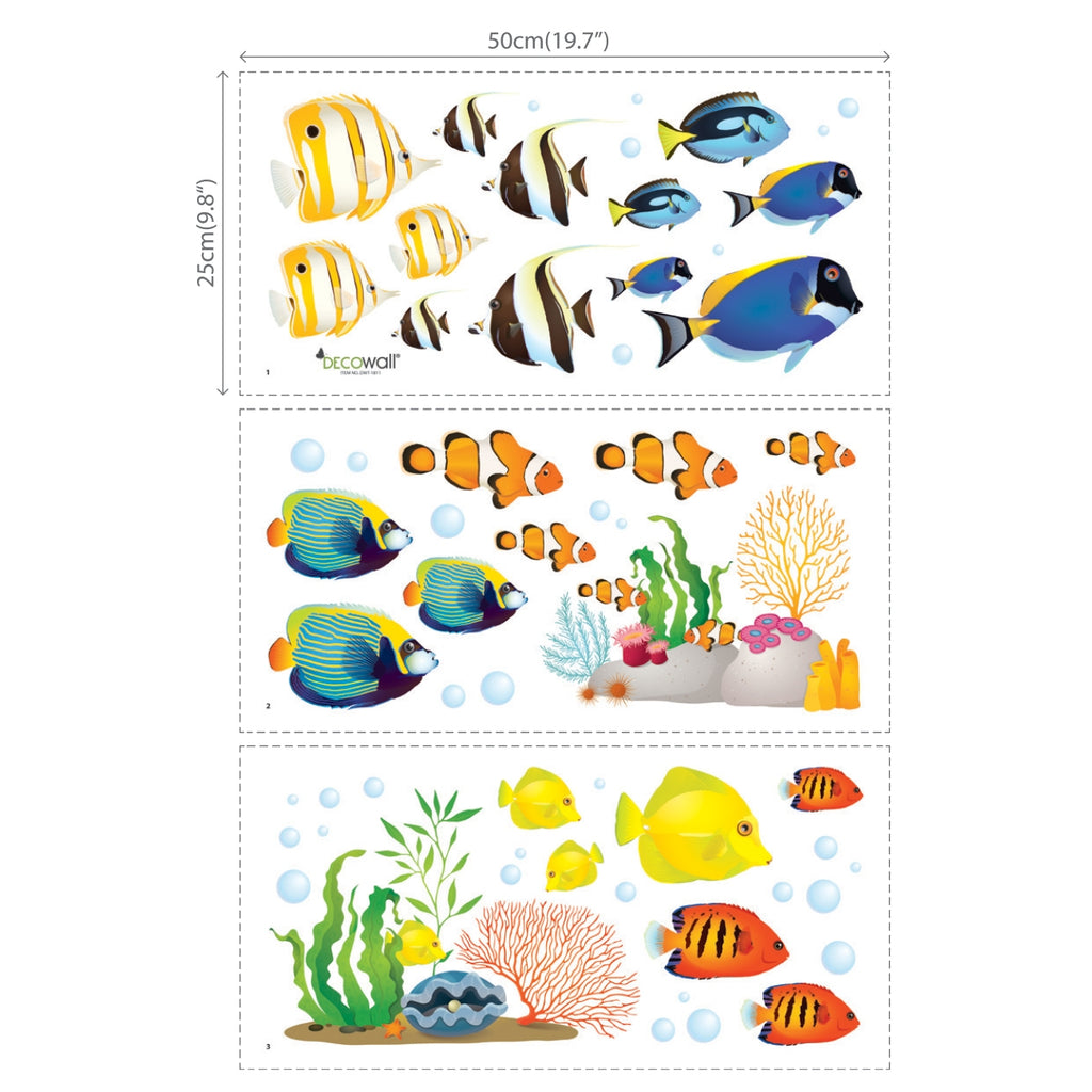 Coral Reef Fish Wall Stickers