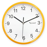 Silent Modern House Wall Clock 23cm- Yellow