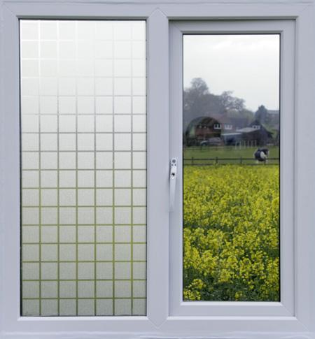 32003 Square Tile Effect Static Cling Non Adhesive Window Film