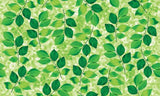 31843 Green Leaves Decorative Frosted Window Film - DECOWALL