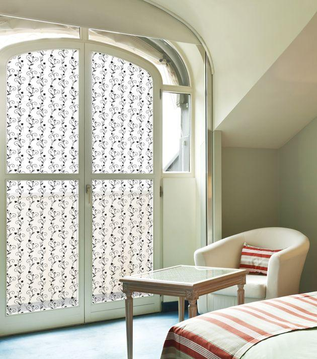 31846 Black Vines Decorative Frosted Window Film - DECOWALL