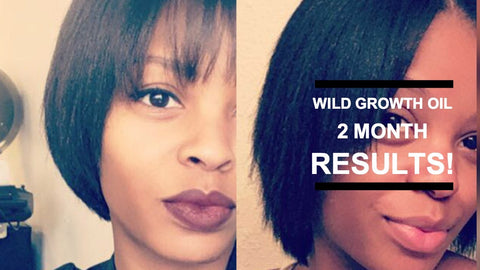 Wild Growth Hair Oil Before and After