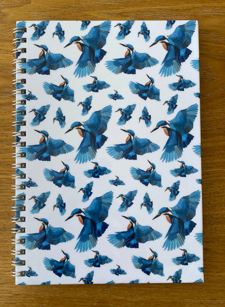 Luxury Hardback Kingfisher A5 Notebook