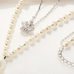 Pearl Long Mulitilayer Necklace With  Multilayer