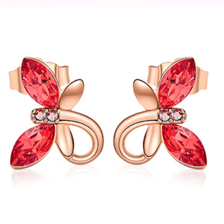 Butterfly Studs Embellished with crystals from Swarovski