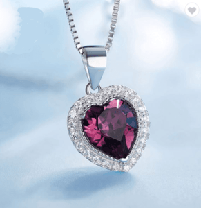 Heart Shaped Crystal From Swarovski 925 Silver Necklaces