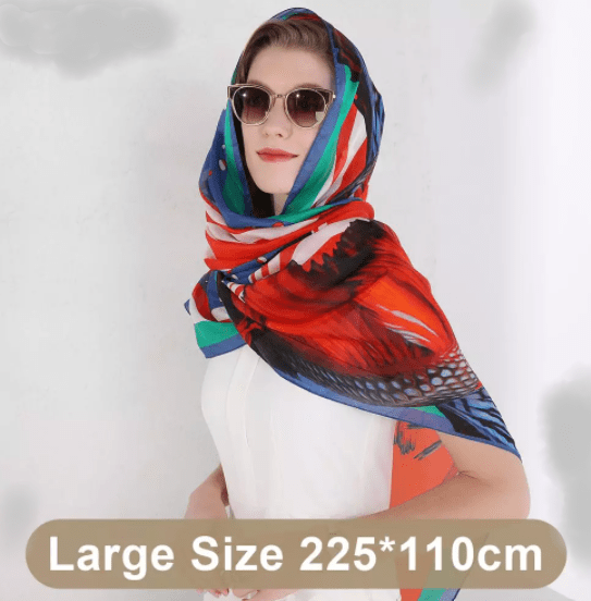 100% Mulberry silk Long Scarf