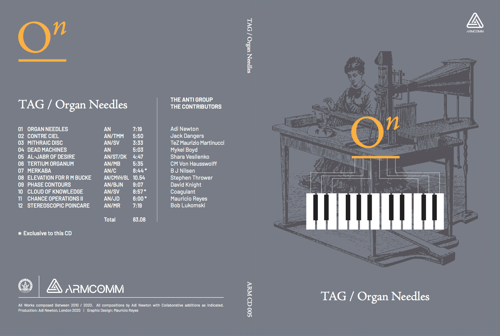 TAG ORGAN NEEDLES A5/CD