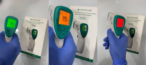 Everycom IR37 Non-Contact Infrared Thermometer – Made in India (1 Year Replacement Warranty + 4 Year Service Warranty )Covid Product