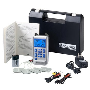 MarsOne EM-6300A TENS EMS Combination Therapy Dual Channel Premier Stim Dual Channel LCD Display both Battery and Direct operated with 1 year Warranty