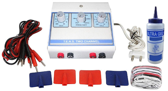 Biotronix TENS Machine 2 Channel ELECTROTHERAPY DEVICE PORTABLE FOR PAIN RELIEF Make in India with 2 Year warranty