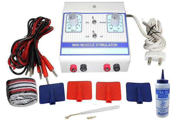 BIOTRONIX MUSCLE STIMULATOR ELECTROTHERAPY DEVICE PORTABLE DUAL CHANNEL FOR MUSCLE STRENGTHENING with 2 year Warranty